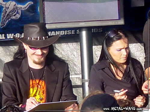 Nightwish, Signing Session @ Wacken Open Air (Tuomas Holopainen, Tarja Turunen)
