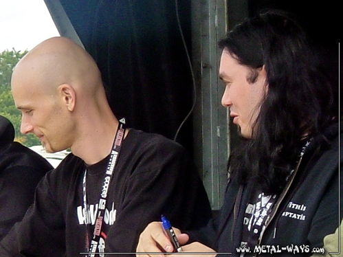 Within Temptation, Signing Session @ Wacken Open Air (Robert Westerholt, Stephen Van Haestregt)