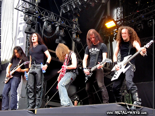 DragonForce @ Graspop Metal Meeting (Herman Li, ZP Theart, Vadim Pruzhanov, Sam Totman, Fr�d�ric Leclercq)