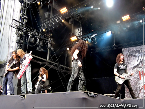 DragonForce @ Graspop Metal Meeting (Herman Li, Vadim Pruzhanov, Frédéric Leclercq, ZP Theart, Sam Totman)