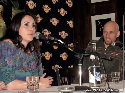 Within Temptation, Press Conference (Sharon Den Adel, Robert Westerholt)